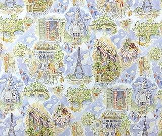 Melody Jane Dollhouse 'April in Paris' Miniature Print 1:12 Scale Scene Wallpaper