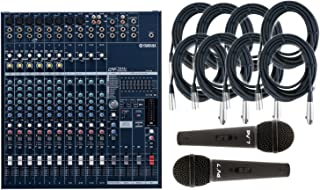 Yamaha EMX5014C 14-CH 1000W Console Style High Performance All in One Powered Mixer That Packs Power Amplifiers | Graphic Equalizers & Digital Effects with 2 Microphones & 8 Senor 20' Microphone Cable