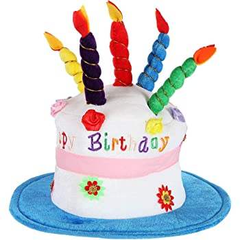 Astounding Amazon Com Adult Happy Birthday Cake Hat With Candles Fancy Dress Funny Birthday Cards Online Inifofree Goldxyz