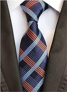 Men's Classic Plaids Jacquard Woven Silk Tie Formal Party Suit Necktie