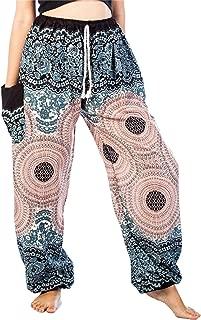 Women's Peacock Floral Drawstring Boho Yoga Harem Pants