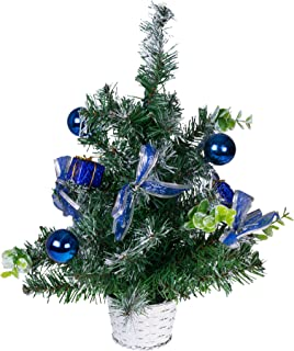Clever Creations Tabletop Christmas Tree with Ornaments and Ribbons Basket Stand Included Christmas Decor Theme Shatter Resistant Ornaments | Stands 12