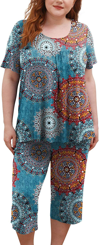 POPYOUNG Womens Pajama Sets, Lounge Sleepwear Ladies Pjs Sets