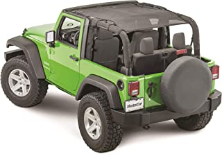 MasterTop 14221301 Freedom Mesh Black JK 2 Door Bimini Plus Jeep Brief Tops