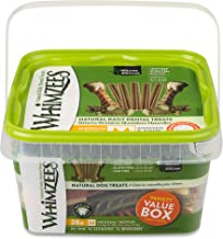 Whimzees 330048 Natural Variety Value Pack Medium or/Whgr/Wh, 29.6 oz, 1Piece, Vegetable, Medium (28 Count)