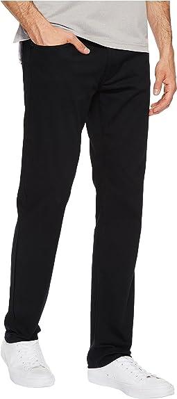 Five-Pocket Slim Straight Slub Twill Pants