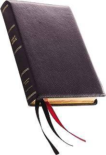 KJV, Reference Bible, Center-Column Giant Print, Premium Goatskin Leather, Black, Premier Collection, Comfort Print: Holy Bible, King James Version
