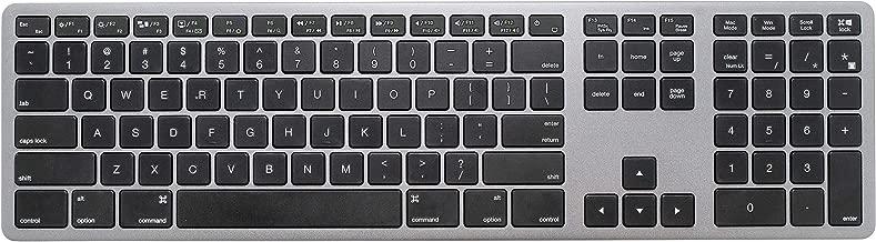 LEXKING Aluminum Metal X-Board MAC/Windows Dual Mode USB Wire Keyboard with Numeric keypad, for Apple Mac Pro,MacBook Pro/Air, iMac,Mac Mini,Laptop of Windows PC,Designed Space-Gray Color Metal case