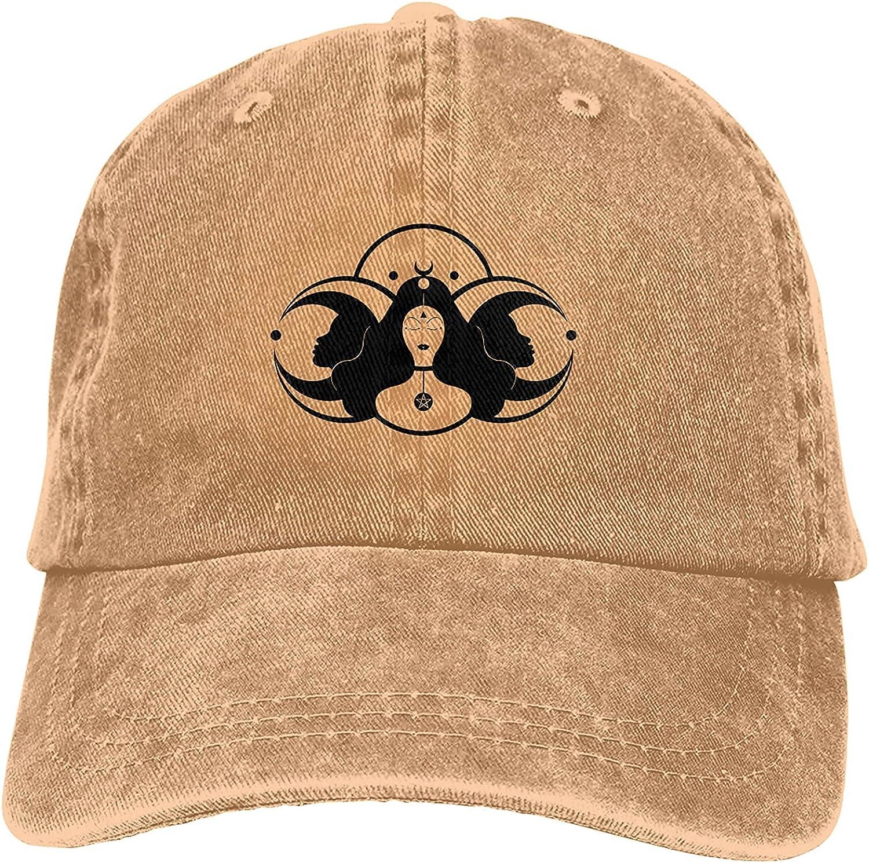 BANYCUND SALENEW very popular Triple Max 84% OFF Moon Pentacle Pagan Unisex Adjustab Cap Baseball