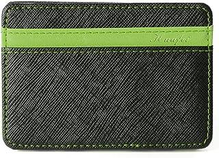 Portafoglio Magico in simili cuoio - magic wallet Credit Card Holder - porta moneta (Verde)