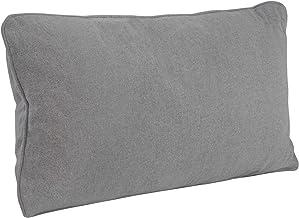DYNMC - Cojín para sofá grande, color gris, cómodo como cojín lumbar, cojín con relleno y funda con calidad Oeko Tex, cojín decorativo con relleno, lavable