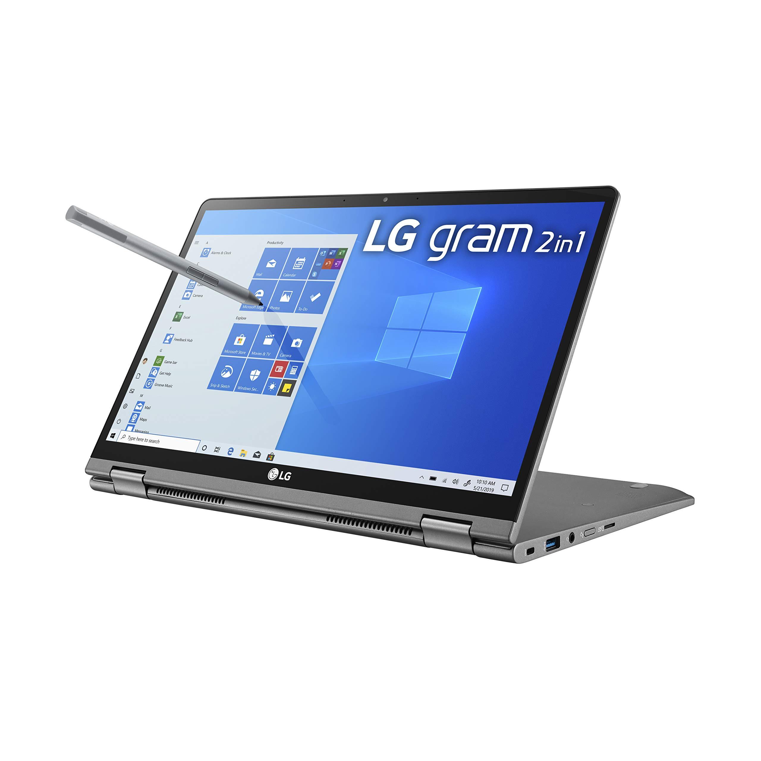 LG Gram 2-in-1 Convertible Laptop: 14 inch  Full HD IPS Touchscreen Display, Intel 10th Gen Core i7-10510U CPU, 16GB RAM, 1TB (512GB x 2) M.2 MVMe SSD, Thunderbolt 3, 20.5 Hour Battery 14T90N (2020) - ,396.99