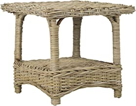 Safavieh Home Collection Bowen Wicker Side Table, Natural