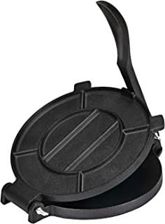 Bioexcel 8-Inch Cast Iron Tortilla Presser with Handle, Black
