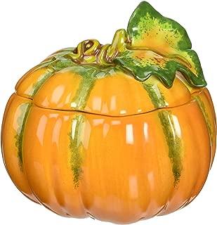 Cosmos 10363 Fine Porcelain Lift Off Lid Small Pumpkin Box, 3-1/2-Inch