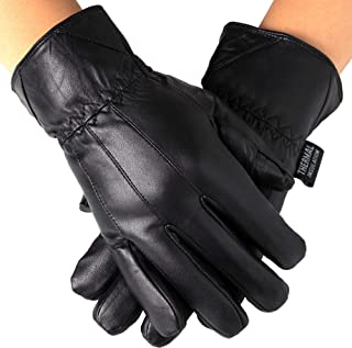 Best Alpine Swiss Mens Touch Screen Gloves Leather Thermal Lined Phone Texting Gloves Review