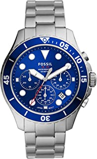 Fossil FB-03 Men's Chronograph Stainless Steel Watch with Blue Dial FS5724