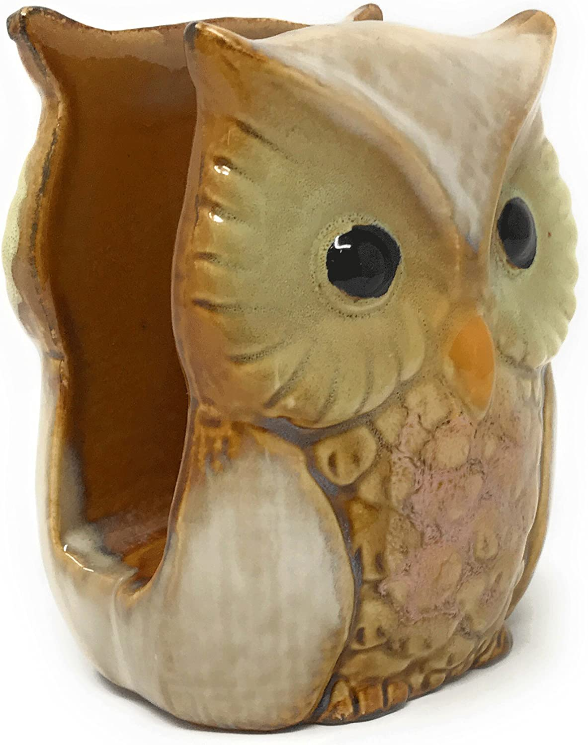 New products world's highest quality popular Nature's Home NEW before selling Ceramic Owl Beige Napkin Holder