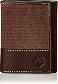 Men's Canvas & Leather Trifold Wallet