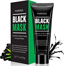 Best Vassoul Blackhead Remover Mask, Peel Off Blackhead Mask - Deep Cleansing Black Mask, Bamboo Activated Charcoal Peel-Off Mask Review