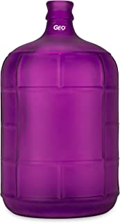 Geo Sports Bottles 3 Gallon Round Glass Carboy fits 30mm Cork Finish or 55mm Push Cap Home Brew
