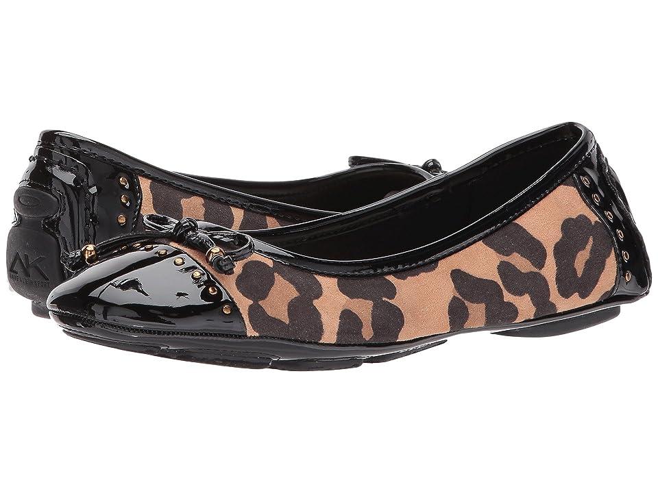Anne Klein Buttons Flat (Leopard Fabric) Women