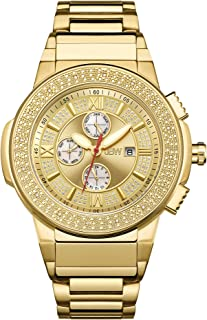 ساعة ساكسون الفاخرة للرجال من جيه بي دبليو مرصعة بعدد 16 قطعة من الالماس مصممة بحركة سويسرية - JB-6101-D
