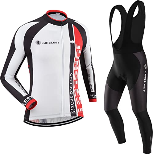 JUNGLEST Maillot de Cyclisme Homme Manches Longues Jersey(S5XL,Option Cuissard,3D Coussin) N103