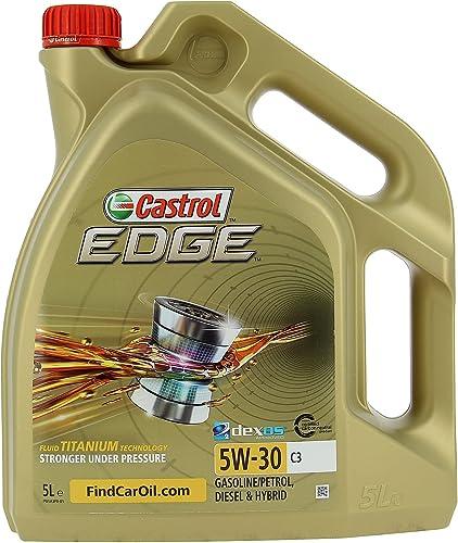 Castrol EDGE 5W-30 C3, Huile Moteur, 5L