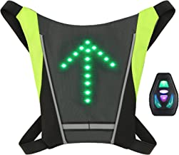 Lixada Wireless Turn Signal LED Light Vest for Backpack USB Rechargeable Reflective Guiding Light Safety Warning for Night...
