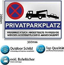 Schelle Parkplatz-Schild Privatparkplatz oder KfzZeichen mit Pfosten 1 m lang