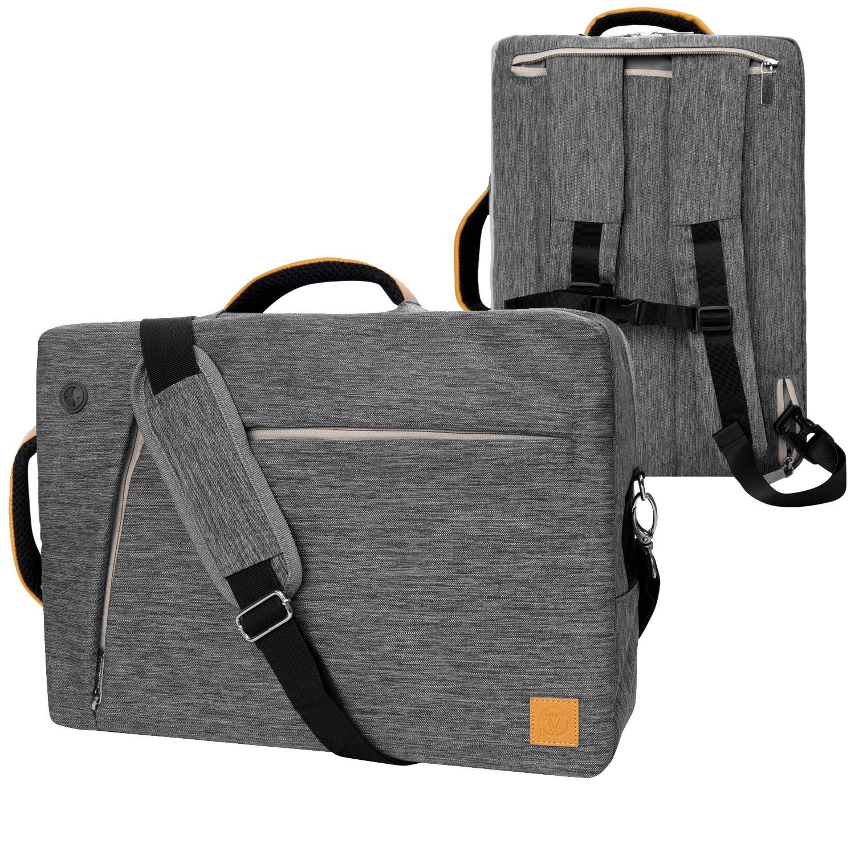 VanGoddy Slate Gray Convertible Laptop Bag for 14