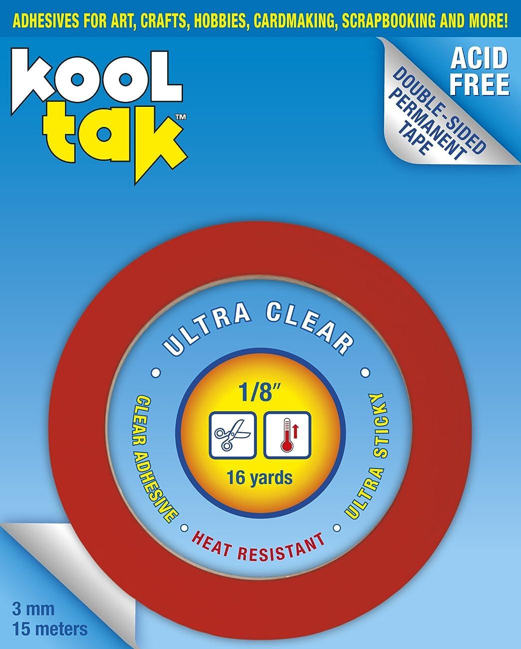 KOOL TAK KUC-003-15 Ultra Clear Sticky Tape, 1/8-Inch by 16-Yard