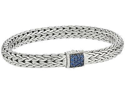 John Hardy Classic Chain 7.5mm Bracelet with Blue Sapphire (Silver) Bracelet