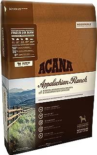 ACANA Regionals Appalachian Ranch Dry Dog Food, 13 lb. Bag. (Ranch Raised Red Meats & Freshwater Catfish)