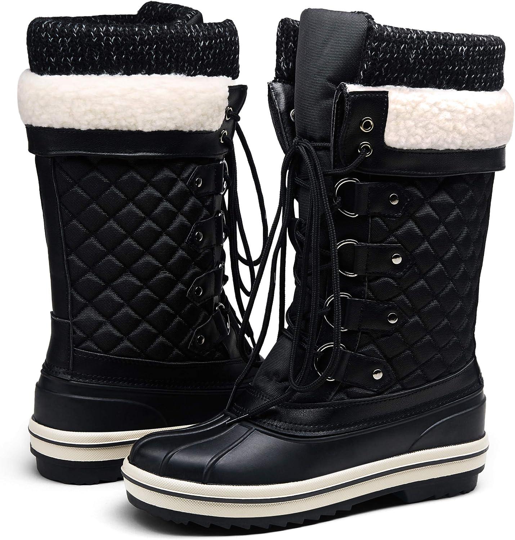 Vepose Women's Winter Boots Waterproof Snow Boots Mid Calf Outdoor Boot