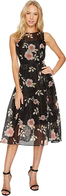 Adrianna Papell - Boat Neck Fit & Flare Dress