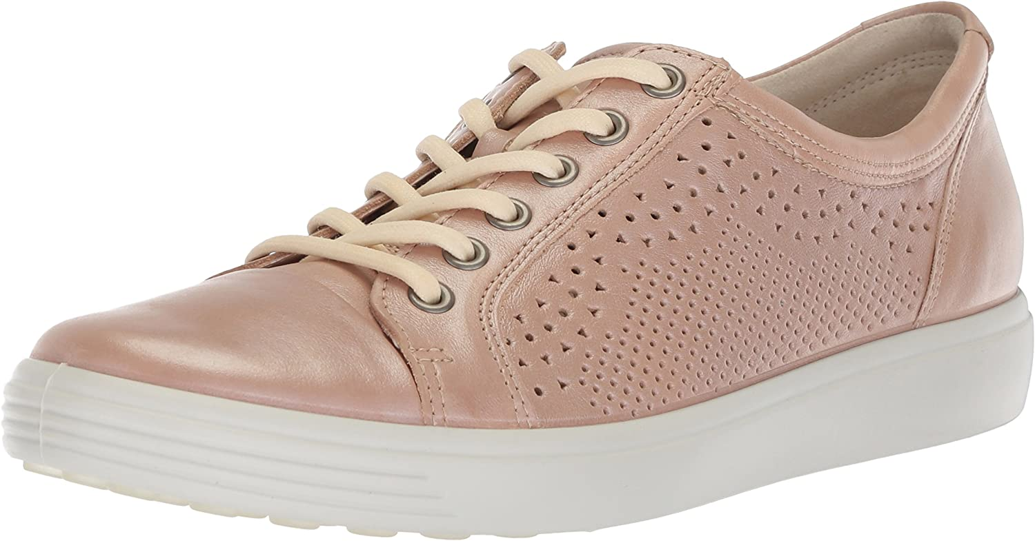 ECCO shoes Women's Soft 7 Lace Cut Leather Fashion Sneakers