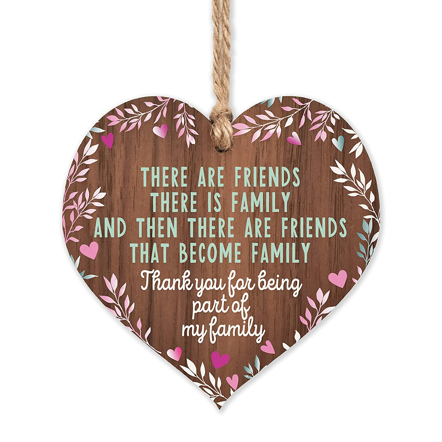 Max 67% OFF Friends plaque that are family Fees free!! wooden heart gifts fo