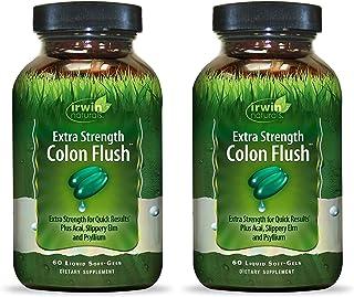 Irwin Naturals Extra Strength Colon Flush, with Acai, Slippery Elm, and Psyllium | 60 Liquid Soft-Gels