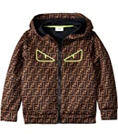 Fendi Kids - All Over Logo Print Zip-Up Jacket (Big Kids)