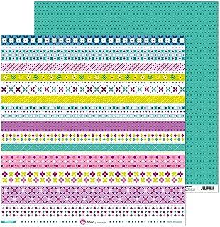 Anita y Su Mundo Collection Mosaïque Papier de scrapbooking, papier, bandes 30,5 x 30,5 cm