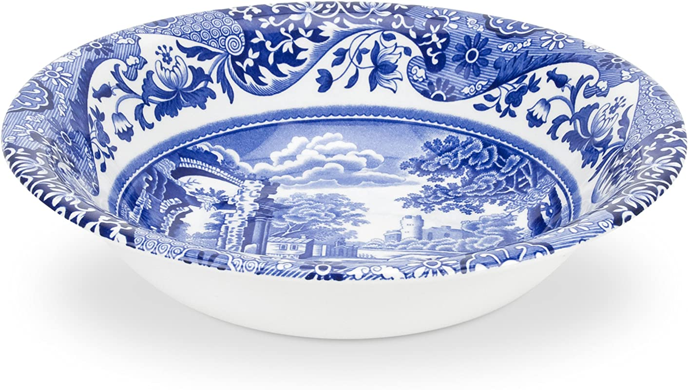 Spode Blue Italian Cereal Bowl Set Of 4