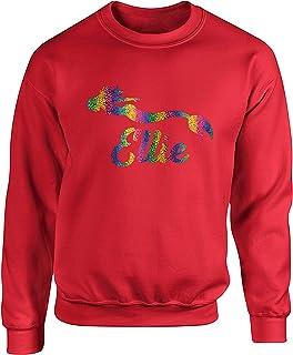 Hippowarehouse (Personalised Mermaid Name Rainbow Unisex Jumper Sweatshirt Pullover (Specific Size Guide in Description)