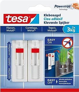 TESA 77764-00000 Varilla, Blanco, 3 kg, Set de 2 Piezas