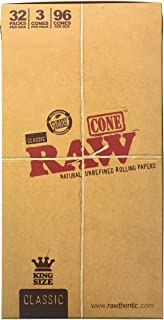 Raw Cone Classic King Size, 32 Pack, 3 Cone/Pack