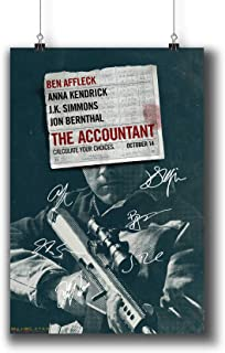 Pentagonwork The Accountant (2016) Movie Photo Poster Prints 947-001 Reprint Signed Casts,Wall Art Decor Gift (A4|8x12inch|21x29cm)