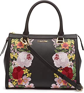 calvin klein key item saffiano satchel