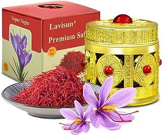 LAVISUN Saffron - Premium All-Red Saffron Spice, Superior Saffron Pure Threads Highest Grade for Tea, Paella, Persian Rice...