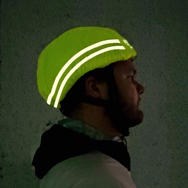 Taille unique Couvre-casque de v/élo Protection contre la pluie HiLo Sports Housse de casque /étanche avec r/éflecteurs de s/écurit/é